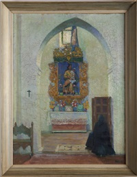 altar in a church alcove, carmona, spain by alfonso grosso y sánchez
