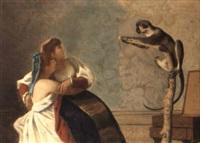 le belle e la scimmia by vito d' ancona