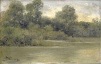 paisaje del río by josé pinelo llull