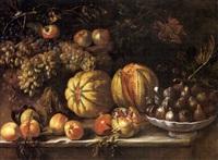 natura morta di frutta con alzata di fichi by agostino verrocchi