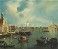 blick auf das bacino di san marco mit der punta della dogana und san giorgio maggiore in venedig by bernardo bellotto