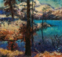 mary's lake, donner pass and garden path (2 works) by walter alexander bailey