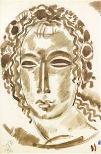 visage féminin by rené buthaud