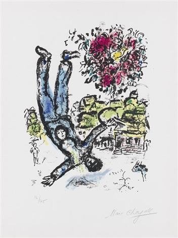 le bouquet de lartiste by marc chagall