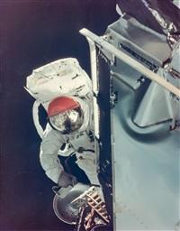 russell schweickart's spacewalk, apollo 9, march 1969 by david scott