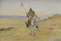 indian warrior by olaf c. seltzer