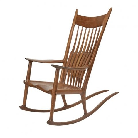 Remarkable Rocking Chair By Sam Maloof On Artnet Ibusinesslaw Wood Chair Design Ideas Ibusinesslaworg