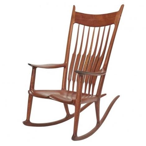 rocking chair by sam maloof on artnet