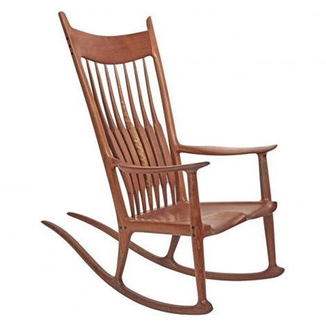 Sensational Rocking Chair By Sam Maloof On Artnet Ibusinesslaw Wood Chair Design Ideas Ibusinesslaworg