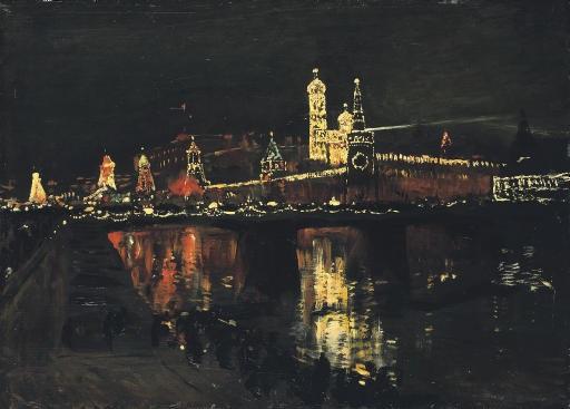 the illumination of the kremlin by isaak levitan
