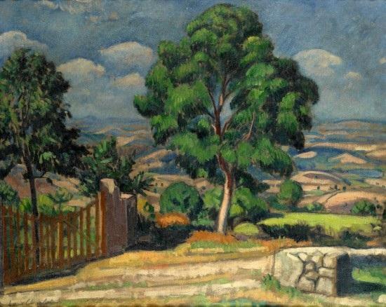 paysage au grand arbre by louis charlot