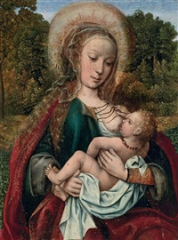 the virgin and child in a garden by master of frankfurt