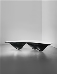 black aqua table by zaha hadid