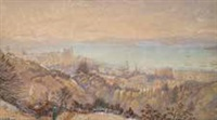 wellington from wadestown hill by christopher aubrey