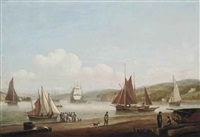 shipping in the harbour at teignmouth, devon by thomas luny