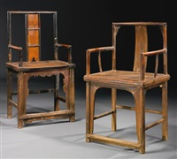 untitled (pair of chairs) (in 2 parts) by ai weiwei