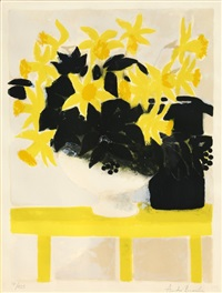 yellow flowers by andré brasilier
