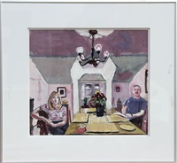 untitled (couple at table) by mel leipzig
