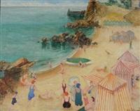 scène de plage by eugène tabouret
