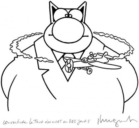 le chat cover for album le tour du chat en 365 jours by philippe geluck
