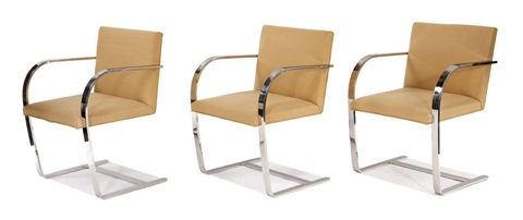 brno chairs model 255cs 6 works by ludwig mies van der rohe