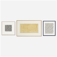 collection of three fabric studies (3 works) by ferier bianchini