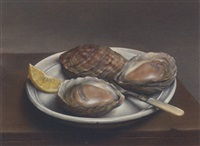 plate of oysters by lincoln taber