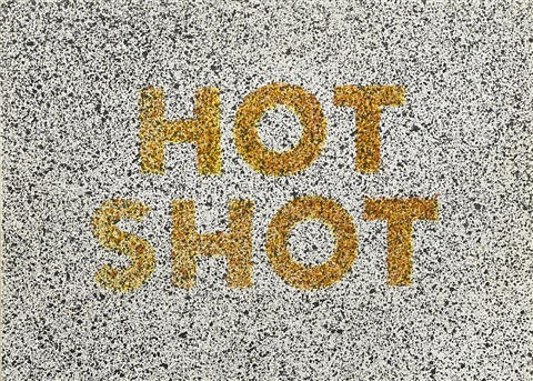 hot shot from 18 small prints portfolio by ed ruscha