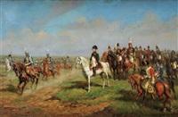 défilé de hussards devant napoléon ier by raymond desvarreux-larpenteur