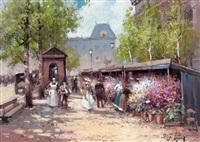 le marché aux fleurs à la madeleine by vladimir fomine