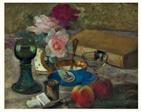 nature morte au livre by walter gay