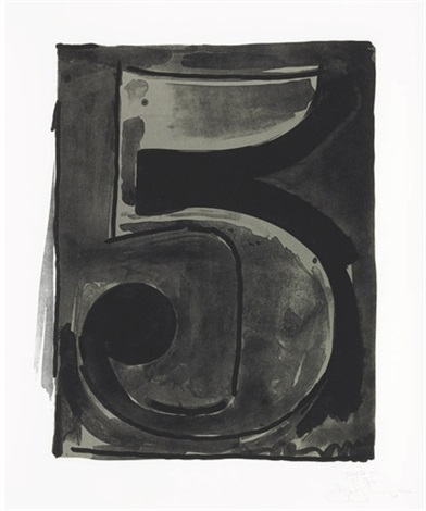 figure 5 from black numeral series by jasper johns