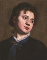 ritratto femminile by vito d' ancona