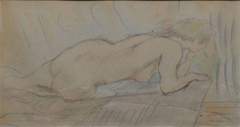 nu se relevant by jules pascin