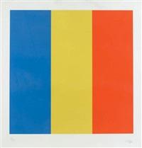 blue, yellow, red (gemini, 1524) by ellsworth kelly