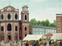 markt vor der kollegienkirche in salzburg by regine dapra