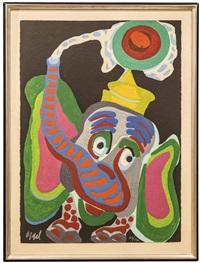 circus, portfolio ii. l'ane trop paisible pour les enfants cruels (nmr 9 av 10) by karel appel