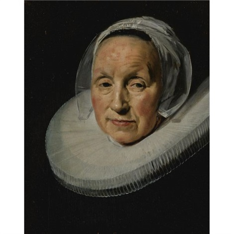 portrait of a woman in a white ruff by frans hals the elder