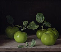 still life of apples by james noble