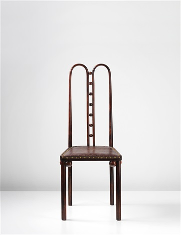 side chair model no 371 designed for the kunstschau vienna by josef hoffmann