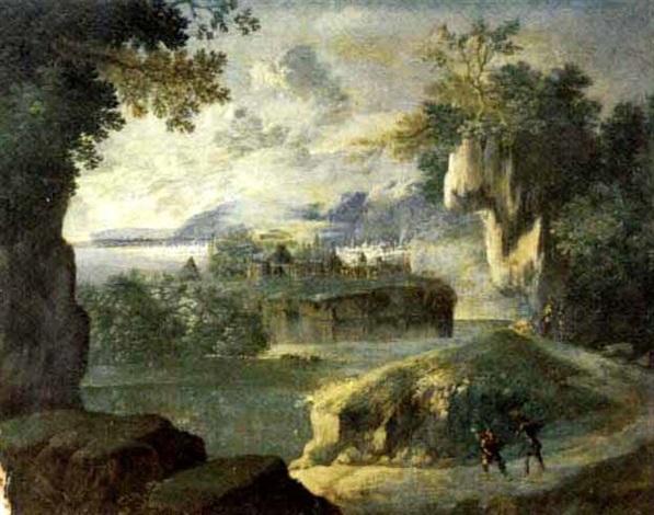 paesaggio fluviale by italian school ferrara 17
