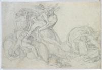 detail aus dem jüngsten gericht (after peter von cornelius) by caspar heinrich merz