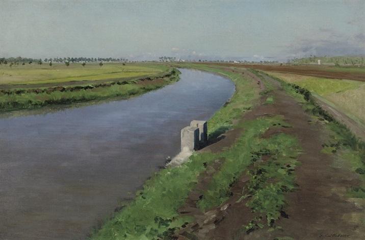 bord dun canal près de naples by gustave caillebotte