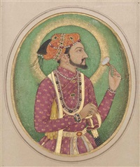shah jahan with the imperial seal by ghulaman nadir al-zaman