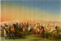 scène de bataille en algérie by louis cournerie