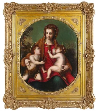 la vierge à lenfant jésus et saint jean enfant by andrea del sarto