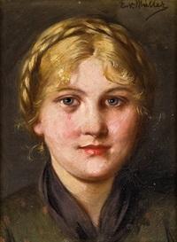 blondes dirndl by emma (edle von seehof) müller