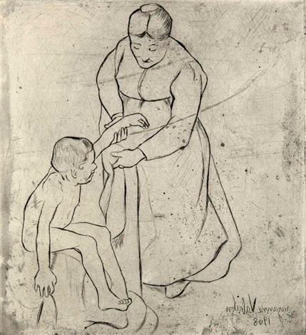 grand mère et enfant by suzanne valadon