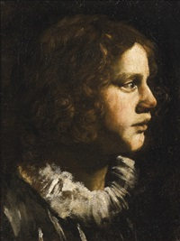 portrait of a young man in a white ruff by italian school-roman (17)