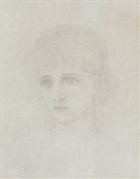 head of a girl by henry george holiday